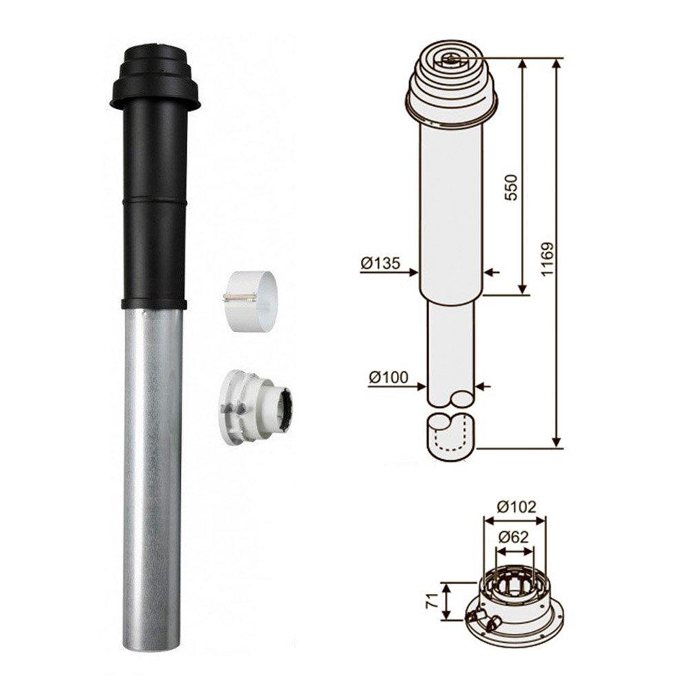 Коаксиальный вертикальный комплект Bosch AZ 396 (Ø60/100)