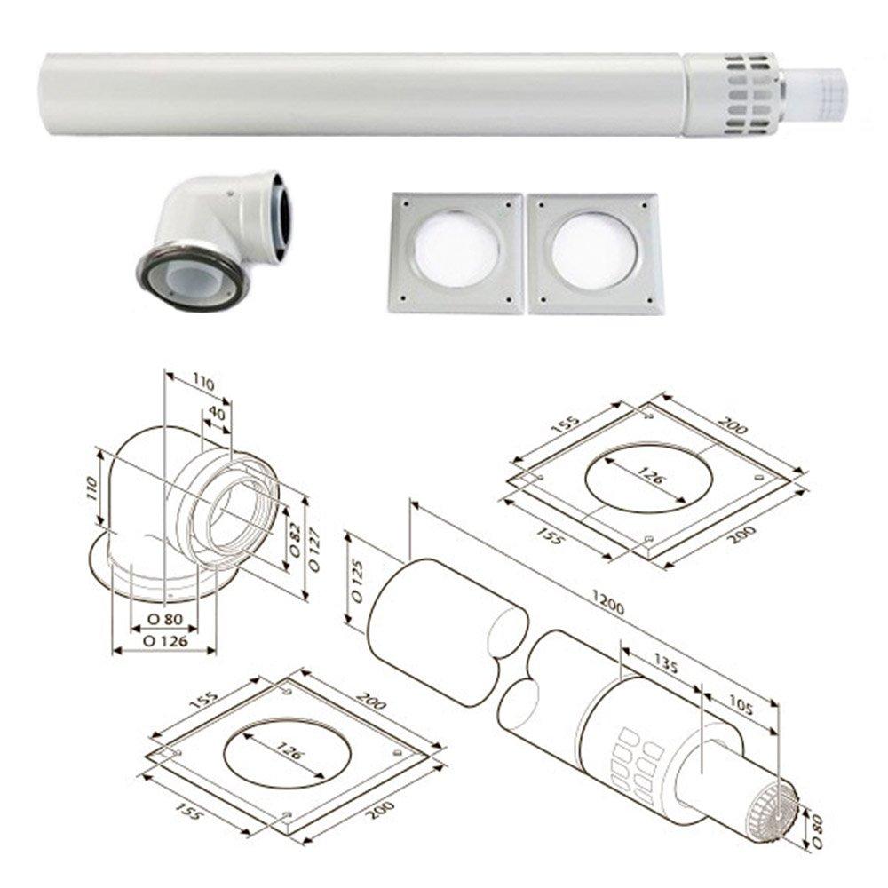 Коаксиальный горизонтальный коаксіальний Bosch AZB 918 (80/125 мм)