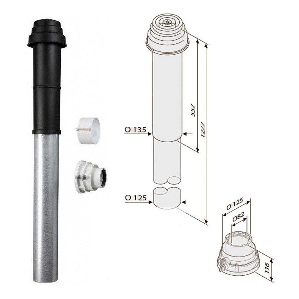 Коаксиальный вертикальный комплект Bosch AZB 919 (80/125 мм)