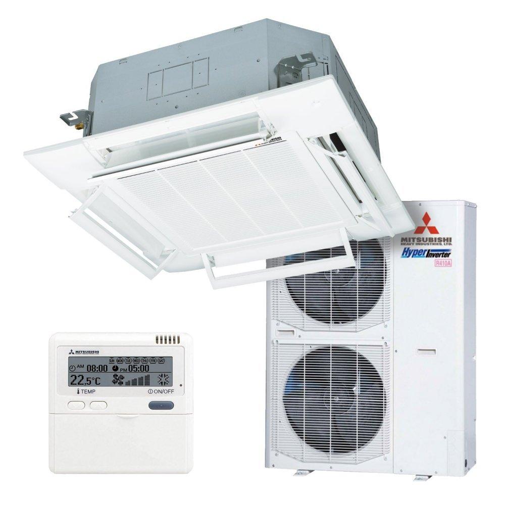 Кассетный 4-щелевой кондиционер Mitsubishi Heavy FDT100VG/FDC100VS Micro Inverter