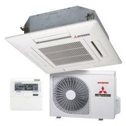 Кассетный 4-щелевой кондиционер Mitsubishi Heavy FDT100VG/FDC90VNP Standard Inverter
