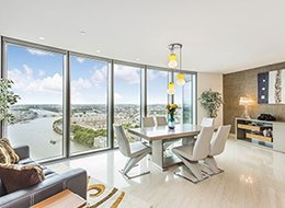 Изображение интерьера гостиной в квартире