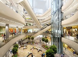 Изображение внутри торгово-развлекательного центра