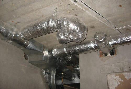Изображение воздуховодов вентиляционной системы