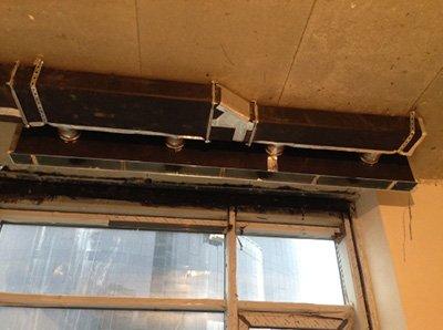 Фото с монтажа вентиляции и кондиционирования в квартире в ЖК PecherSKY, Киев