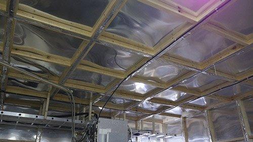 Изображение клетки Фарадея в МРТ комнате: потолок