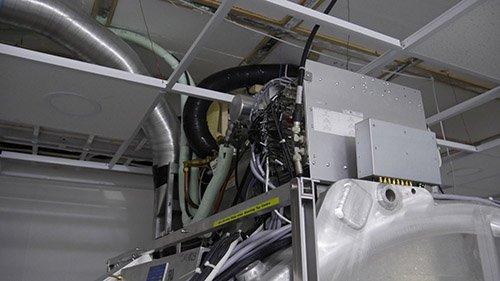 Первое изображение воздуховодов из немагнитной нержавейки в МРТ комнате